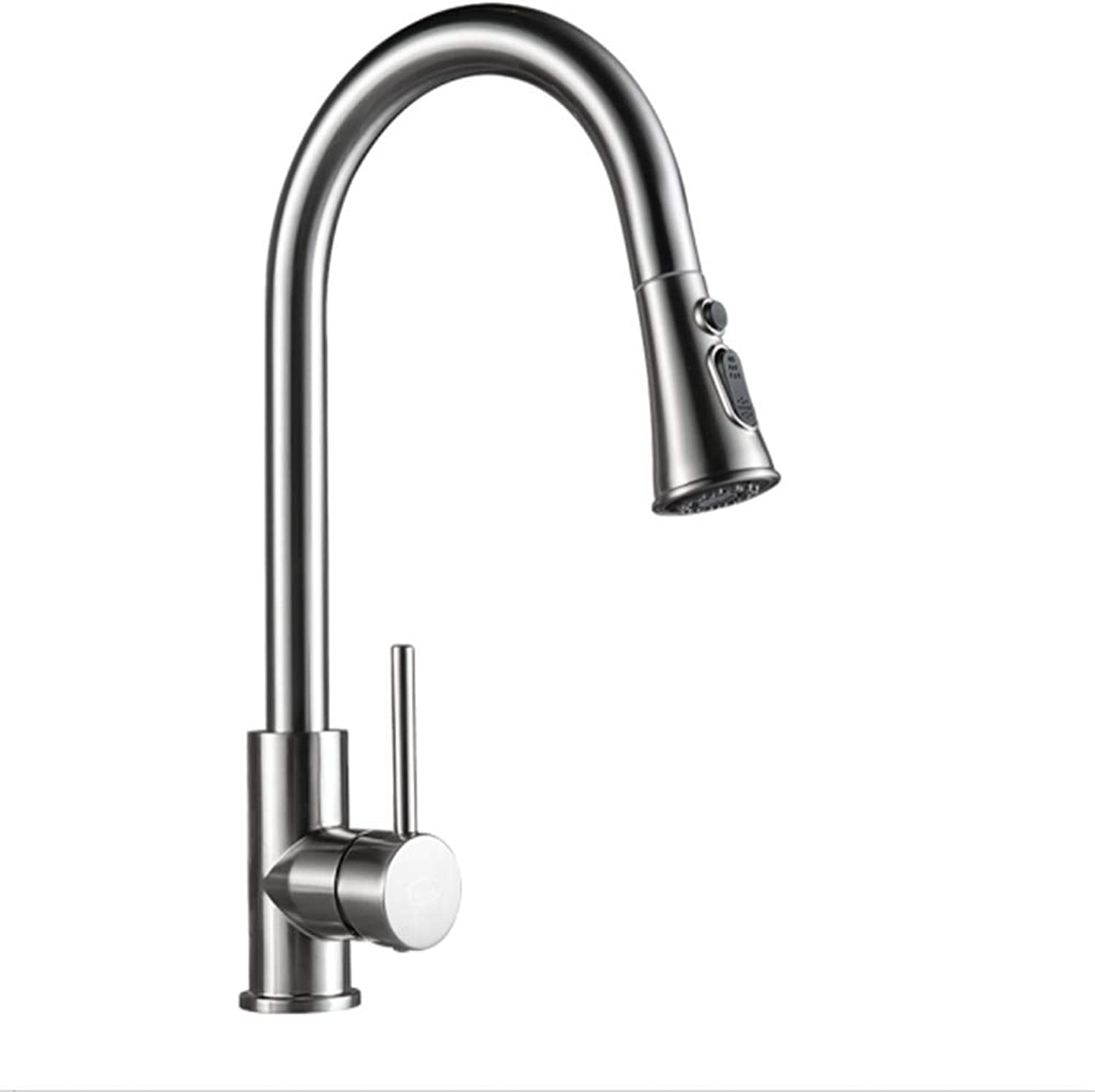 Kitchen Taps Faucet Modern Kitchen Sink Taps Stainless Steel304 Stainless Steel Pull Faucet Cold and Hot redary Sink Faucet Kitchen Dishwash Basin Single Hole Faucet