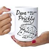 Taza grande personalizable – Feeling Prickly, erizo, cerdo de seto, resaca, gruñón, regalo, mamá, papá, hermano, hermana, novio, novia, 15 oz, taza XL