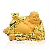 THj Figuras Adornos Figuras Decoración Cachemira Arena Lingote de Oro Buda reclinado Decoración Inte...