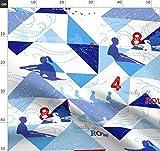Rudern, Boot, Sport, Rot, Weiß Und Blau Stoffe -