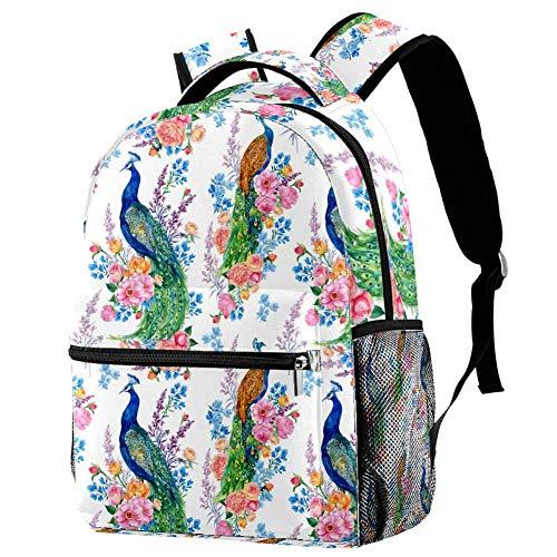Sunflower Sunshine Floral Mochila para adolescentes, escuela, libros, viajes, mochila casual Multicolor 07 29.4x20x40cm/11.5x8x16 in