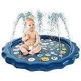 Questo paraspruzzi consente al tuo bambino di bagnarsi e schizzare sotto il sole caldo.Con interessanti motivi marini e interessanti spruzzi d'acqua, affascinerà i bambini.Con una semplice operazione, il tappetino innaffiatoio per bambini può allev...