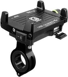 Laduup 2.5A Handyhalterung Motorrad,Handyhalterung Fahrrad Smartphone und Handy Halterung Mit Schalter für Fahrrad, Bike, Motorrad/Handyhalter für iPhone   12 24 V wasserdicht (A)
