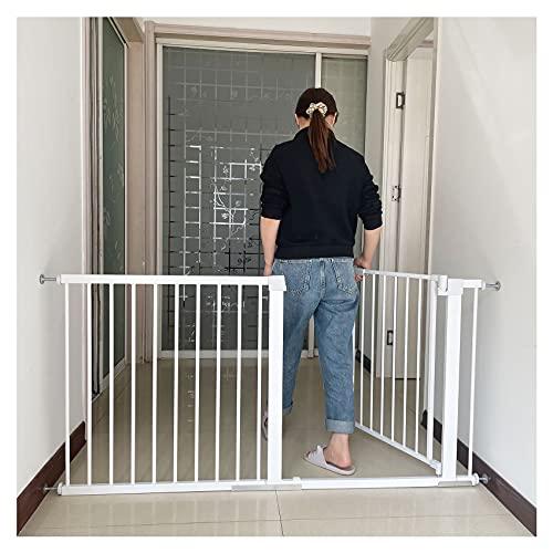 Puerta para perros Extension 7 cm Sin Agujeros Barrera escalera bebe Para Interiores y Exteriores blanco Red de Seguridad Escaleras 61-68cm