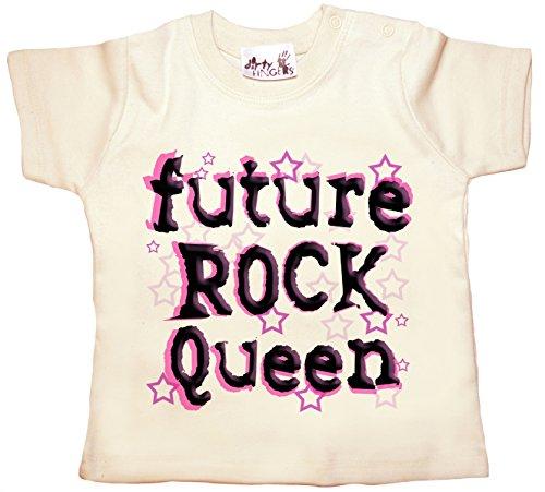 Dirty Fingers Future Rock Reine, bébé T-Shirt - Ecru - XXXS