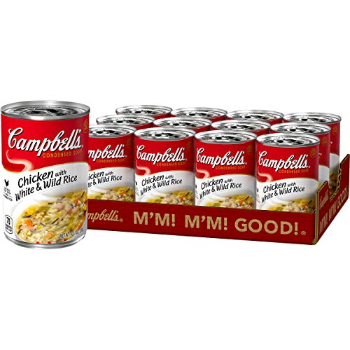 Campbell's Condensed Chicken with White & Wild Rice Soup, 10.5 Ounce (Pack of 12)