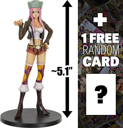 One Piece Jewelry Bonney ~5.1' Figure (#09): Super Styling - Valiant Material Series #3 (Japanese Import) + 1 Free Official Trading Card Bundle