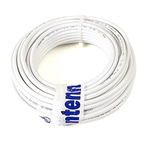 20 m (Meterware) Kathrein LCD 111 A+ Koax Kabel RG6 1,13/4,8/6,9 mm NEU: Class A+, weiß, PVC