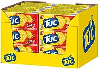 TUC Sweet Chili - Fein gesalzenes Knabbergebäck mit Chili-Geschmack - 24 x 100g