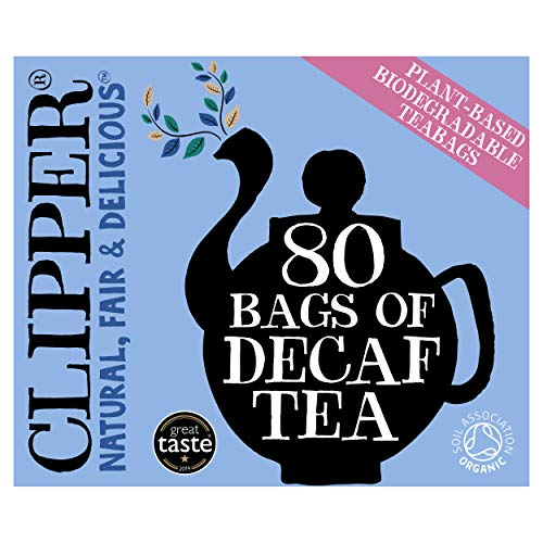 Clipper Teas - 80 Unbleached Bags of Organic Decaf Tea - 250g