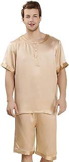 Men's Pajamas Set Summer Short Sleeve Bathing Pajamas Comfortable Sizes Top and Pajama Pants Two-Piece Loungewear Homewear...