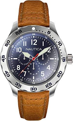 Nautica Men's Cruise Ncc01 Multi NAPNCI803 Blue Leather Quartz Fashion Watch