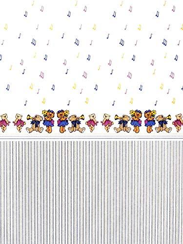 Melody Jane Casa de Muñecas Musical Ositos de Peluche Miniatura Dibujo 1:12 Escala Infantil Papel Pintado