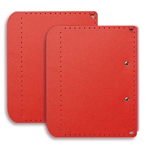 プラス A5サイズにおりたためる A4クリップボード+ レッド 83-163 ×2冊
