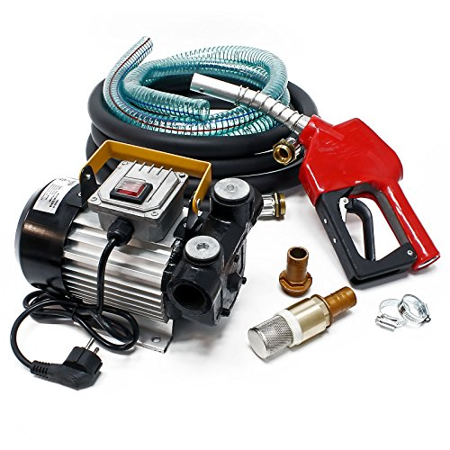 Bio Dieselpumpe Heizölpumpe selbstansaugend 230V/550W 60l/min automatische Pistole Umfüllpumpe