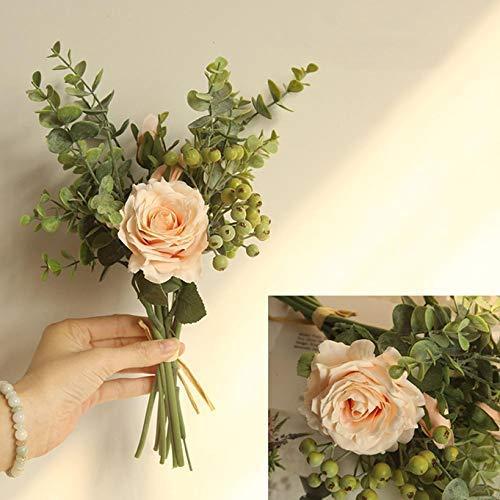 dyudyrujdtry Originele Prachtige Leven Essentiële Eucalyptus Rose Boeket Kunstmatige Bloem Bruiloft Boeket voor Home Decoratie