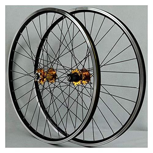 YOOXI Juego de Ruedas para Bicicleta MTB de 26 Pulgadas, Disco de Doble Pared/Freno En V, Ruedas Híbridas de Liberación Rápida (Color : 26inch)