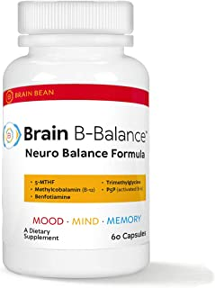 Brain B-Balance | Neuro Balance Formula | with 5-MTHF, B12, Benfotiamine, Trimethylglycine, and P5P | 60 Se...