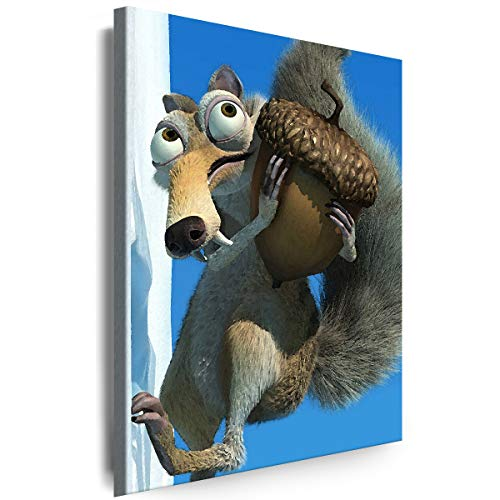 Myartstyle - Bilder Film Cartoons Tiere Kinder Ice Age 115 x 75 cm LeinWandBilder XXL - 1 Teilige WandBilder Art 3D Modern Kunstdrucke w-a-2042-5