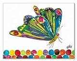 Oopsy Daisy Eric Carle's Fluttering Butterfly Canvas Wall Art, 18x14, Multi