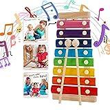 Xilófono Juguetes,Musicales Xilófono de Madera,Instrumento Musical de Percusión Mejor...