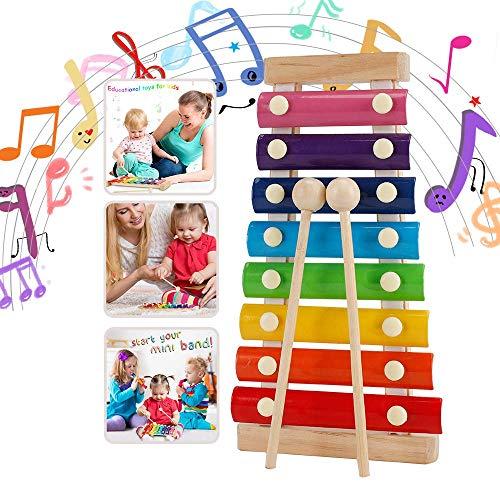 WELLXUNK Instruments de Musique en Xylophone,Jouet Xylophone Musique,Un Grand Jouet Musical pour Les Enfants- Parfait pour Les Musiciens en Herbe (Rainbow)
