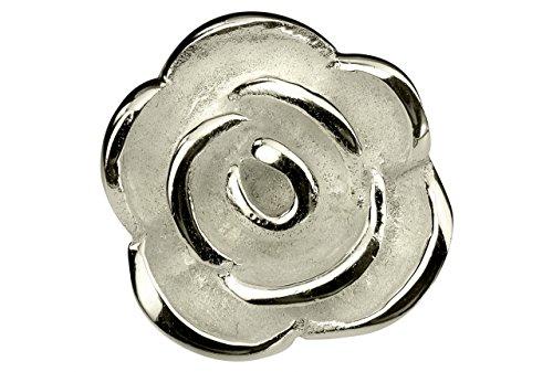 SILBERMOOS Anhänger Rose Blüte Knospe Blume sandgestrahlt 925 Sterling Silber/Kette optional