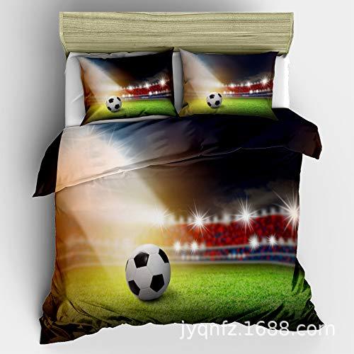 Hllhpc voor 3D Voetbal Voetbal Beddengoed Thuis Textiel Driedelig