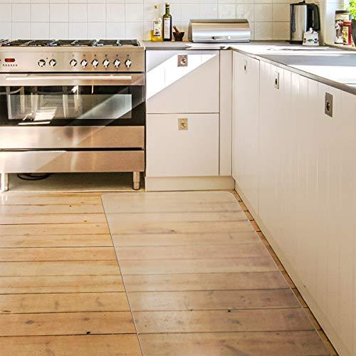 キッチンマット クリア PVC 60×240cm 大判 厚さ1.5mm クリアマット 台所マット 透明マット ソフト 撥水 おしゃれ 汚れ防止 お手入れ簡単 床暖房対応 滑り止め (240*60cm)