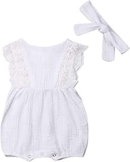 white cotton infant dress