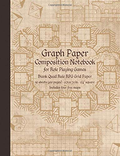 Graph Paper Composition Notebook for Role Playing Games: Blank Quad Rule RPG Grid Paper