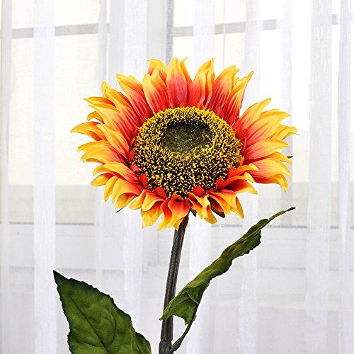 Emulatie bloem zonnebloem grote bloem zonnebloem lange takken aan het plafond woonkamer met bloemstuk in Zijde bloem kunstbloemen plastic bloemen zonnebloem hoog 82cm