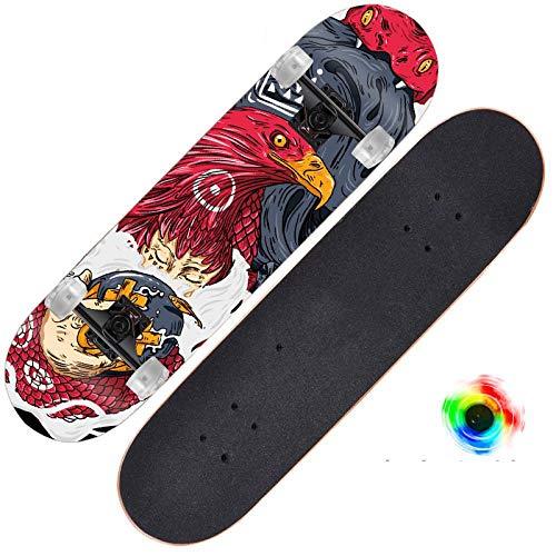 Double Rocker Skateboard Fille Débutant Professionnel Brosse Rue Mâle Court Conseil Quatre Roues Scooter