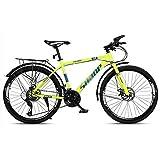 LILIS Bicicleta Montaña Montaña de la Bici Adulta del Camino de MTB de Bicicletas Bicicletas de la Velocidad Ajustable for Hombres y Mujeres de 26 Pulgadas Ruedas Doble Freno de Disco
