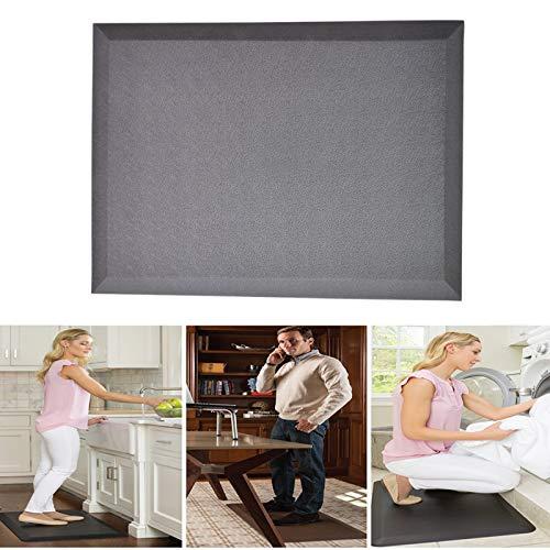 WJQQ Ergonomische Anti-Ermüdungsmatte, Luxuriöse Soft Arbeitsplatzmatte für Küche, EIN Einzigartiges Design, Welches Gelenkbelastungen und Schmerzen MindertDark Gray
