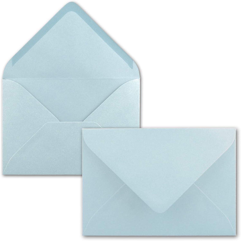 200 Mini Brief-Umschläge - Hell-Blau - 5,2 x 7,6 cm - Miniatur KuGrüns mit Nassklebung für Blaumen-Grüße, Grußkarten, Anhänger & Geld-Geschenke - Gustav Neuser® B07PZXDYQB | Umweltfreundlich