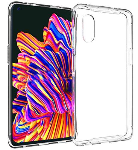 Accezz kompatibel mit Samsung Galaxy Xcover Pro Hülle Silikon Transparent – Handyhülle Durchsichtig – Silikonhülle Clear Hülle Schutzhülle Cover Dünn Kratzfest rutschfest
