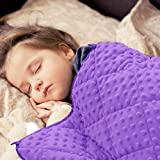 MAXTID Toddler Weighted Blanket 3lbs 36'x48' Violet Heavy Blanket for Sleeping Purple Child Comfort Sensory Blankets for Girls & Boys