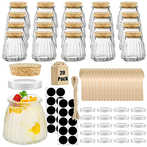 20-Pcs Folinstall Small Spices Glass Jars 4-oz Only $12.99 (Retail $25.99)