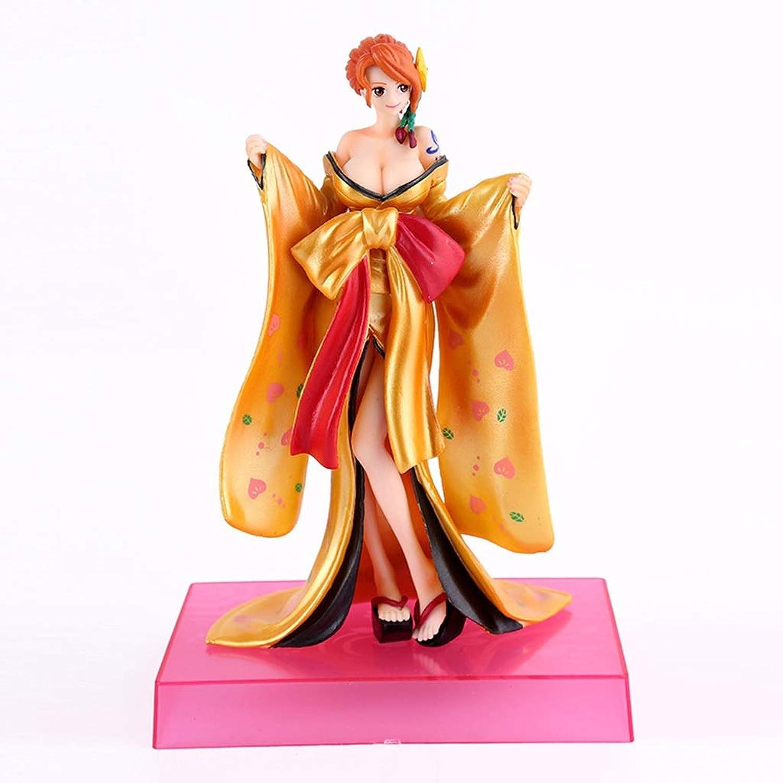 SYXYSM Statue de Jouet One Piece Nami Modèle Anime Collection de poupées en PVC Cadeau d'anniversaire - Deux Couleurs en Option - Hauteur  6.7in Statue de Jouet (Couleur   or)