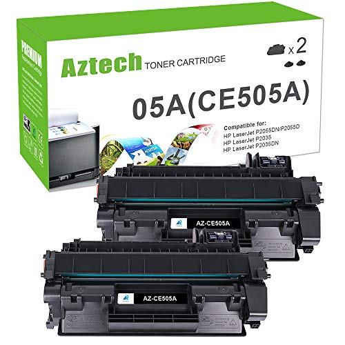Aztech Kompatibel Toner Cartridge Replacement für Toner HP CE505A 05A CE505X 05X CE505D HP P2055DN Toner für HP Laserjet P2055DN P2035 Toner HP 2055 Toner Druckerpatronen Schwarz Toner