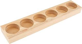 Fenteer オイルホルダーディスプレイ オイルホルダー 木製 トレイ オーガナイザー 全5タイプ - 21.8x4.3x1.8cm