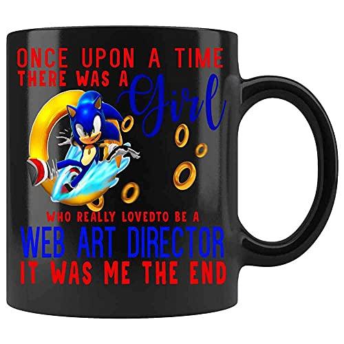 Érase una vez una chica a la que le encantaba ser directora de arte web, era yo, la taza de café del final. Las mejores ideas para regalos de cumpleaños de compañera de trabajo de cerámica (negro,)