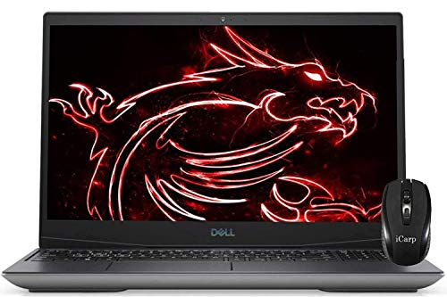 2020 Flagship Dell G5 15 Gaming Laptop 15.6' FHD Display 10th Gen Intel Hexa-Core i7-10750H 16GB DDR4 256GB PCIe SSD 1TB HDD 4GB GTX 1650 Ti Backlit Thunderbolt HDMI Win 10 + iCarp Wireless Mouse