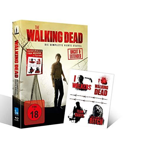 The Walking Dead - Staffel 4 (Uncut & Extended) (Tattoo Fan-Version) [Blu-ray]