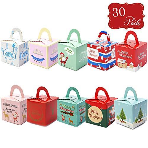 30 confezioni regalo in cartoncino in 10 stili - Ideali per regali di Natale, piccoli regali, caramelle e biscotti