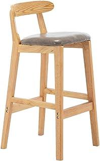 Wzqwzj Sillas de Madera de Alta, Desayuno Inicio sillas de Comedor, para la preparación en la Cocina Bar Restaurante Ocio Cafe,Gris,A