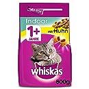 Whiskas Katzenfutter Trockenfutter Indoor für Hauskatzen Adult 1+ mit Huhn, 5 Beutel (5 x 800g)