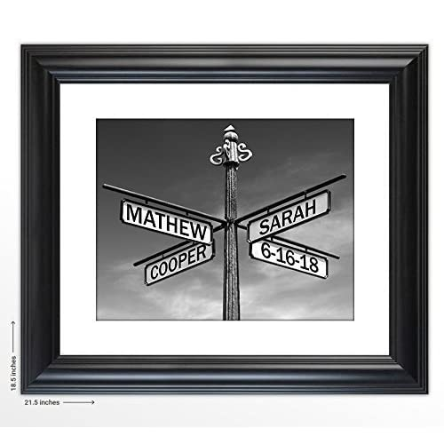"Personalized Wedding Gift -""The Corner of I Do"" Street Sign Art Print- The Perfect Present for the Bride and Groom or Anniversary - Customized Print Includes Names and the Special Date"