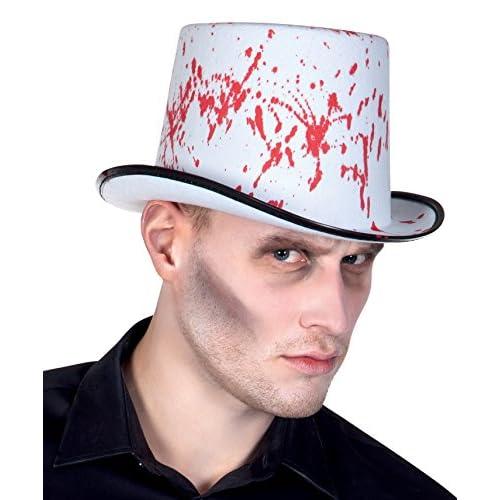 Boland- Cappello Insanguinato Horror Blood Spatters per Adulti, Bianco, Taglia Unica, 96981